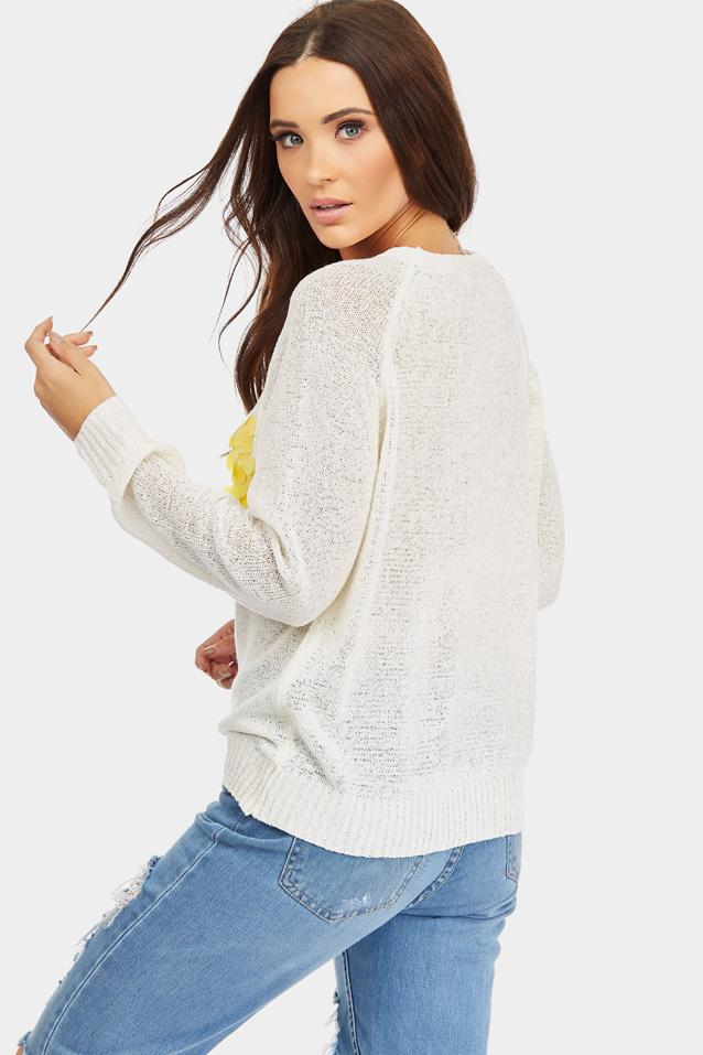 knitted-jumper-with-embellished-front- view 2