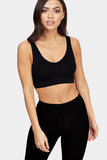Black Padded Basic Sports Bra