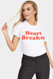 White Heart Breaker Printed T-Shirt