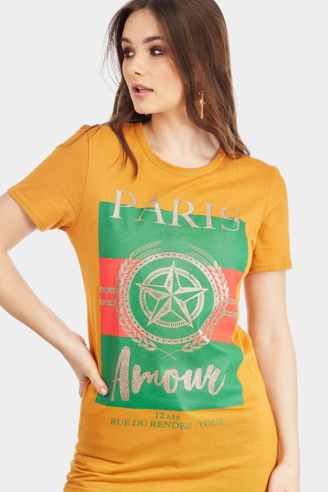 'paris-amour'-slogan-cotton-t-shirt view 5