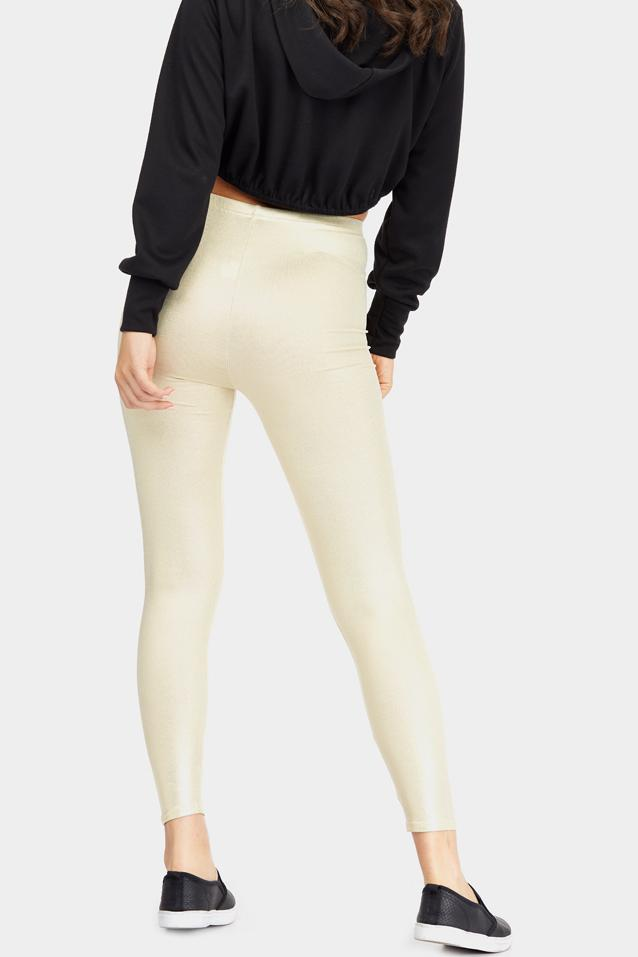 Yellow Metallic Leggings