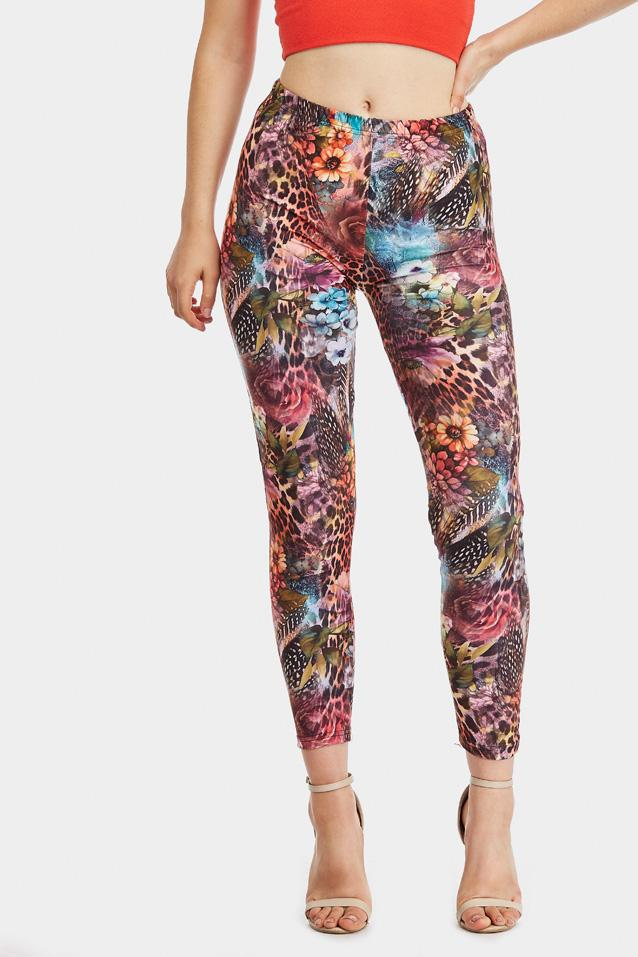 animal-floral-print-leggings- view 2
