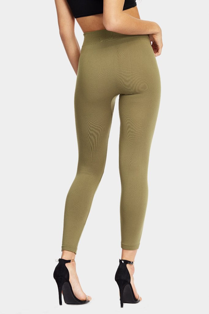 Khaki Fleeced Lined Leggings