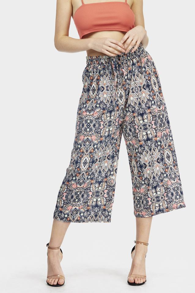 floral-printed-culottes view 2