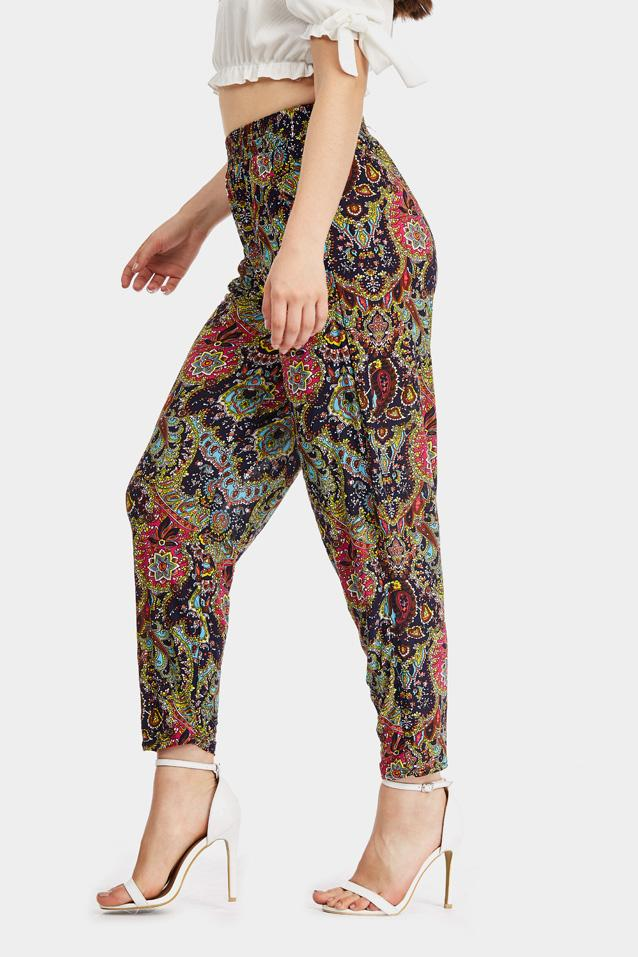 printed-paisley-cuffed-joggers- view 5