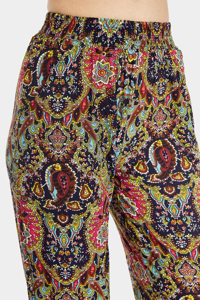 printed-paisley-cuffed-joggers- view 4