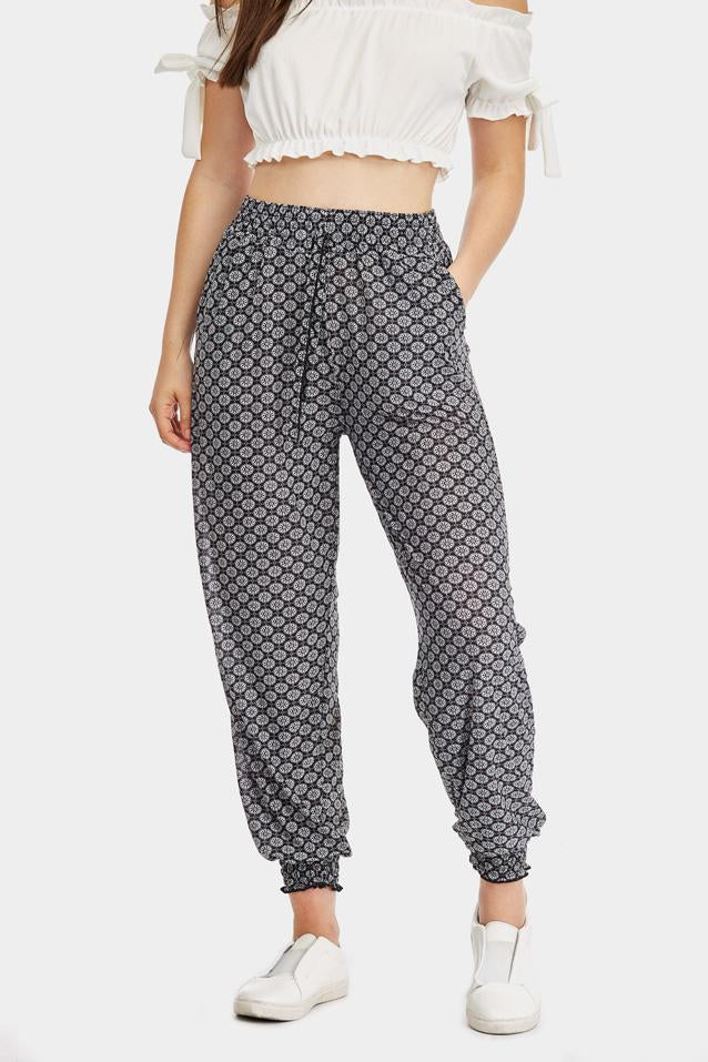tile-print-cuffed-joggers- view 4