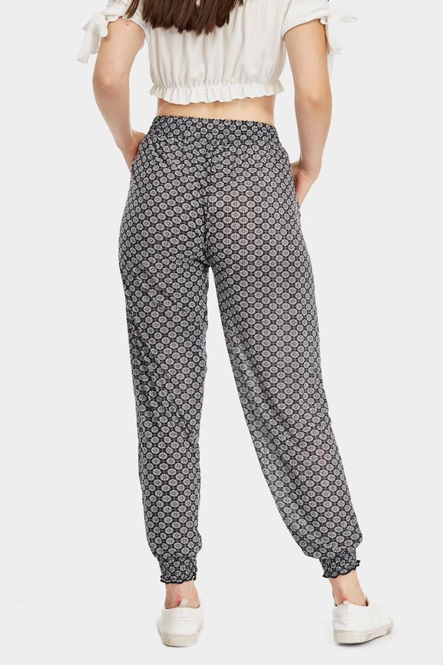 tile-print-cuffed-joggers- view 2