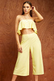 Yellow Wide Leg Culottes