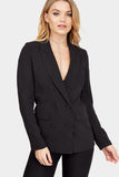 Black Button Detail Blazer