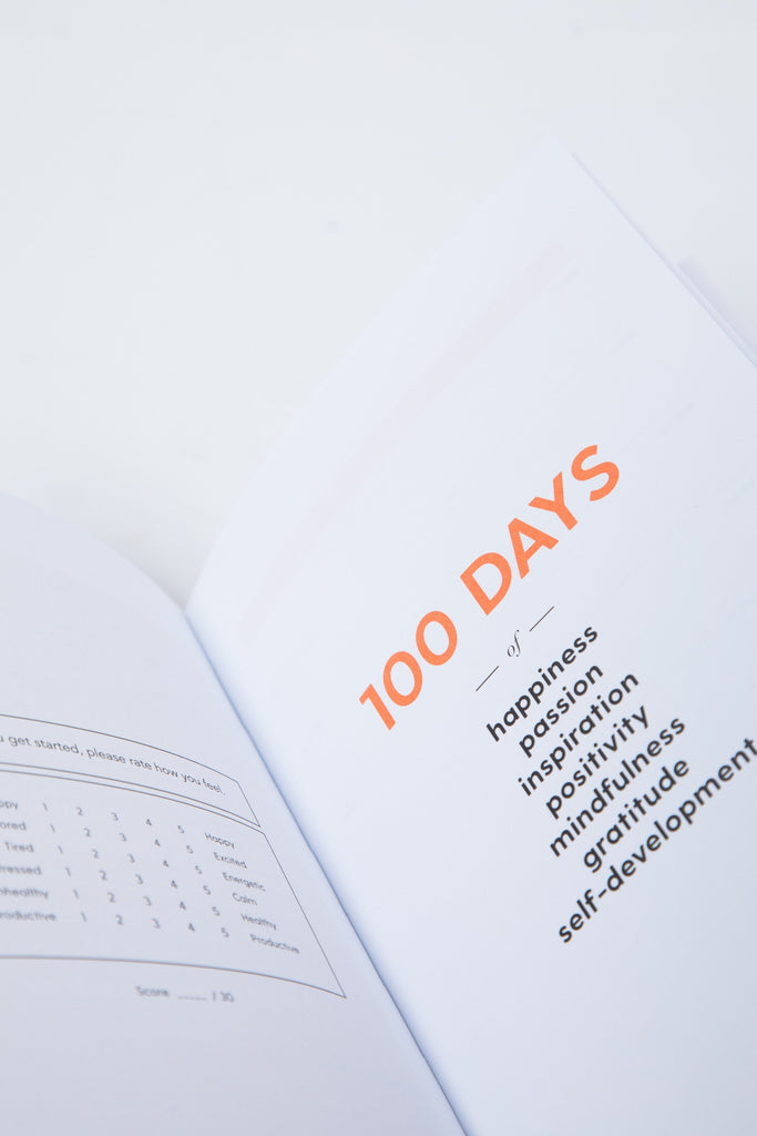 The 100-Day Planner | Orange & Pink