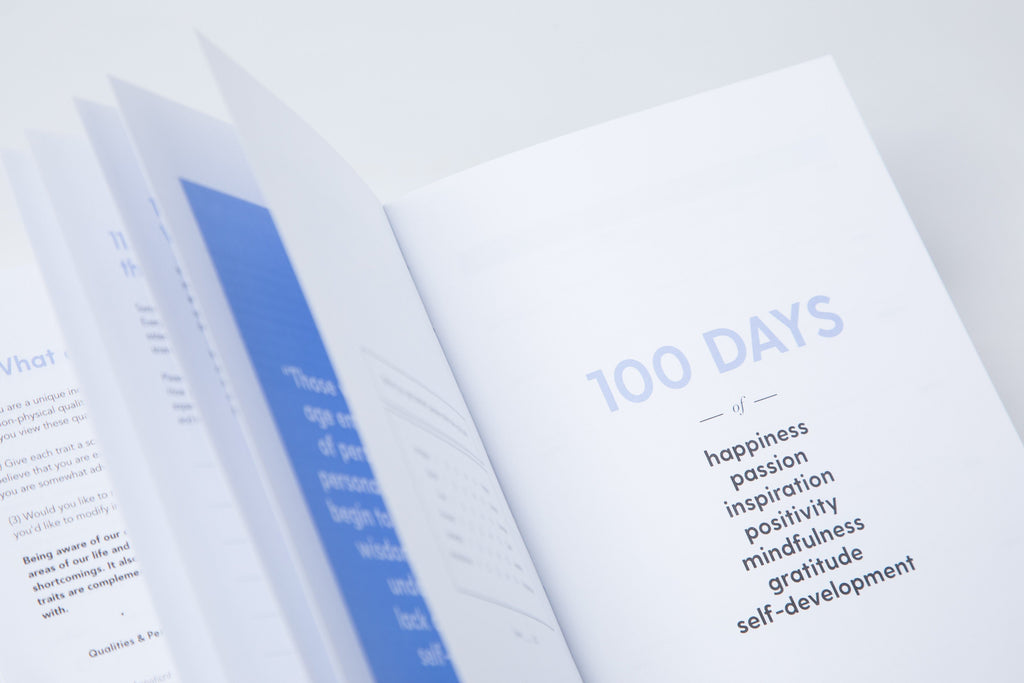 The 100-Day Planner | Blue & White