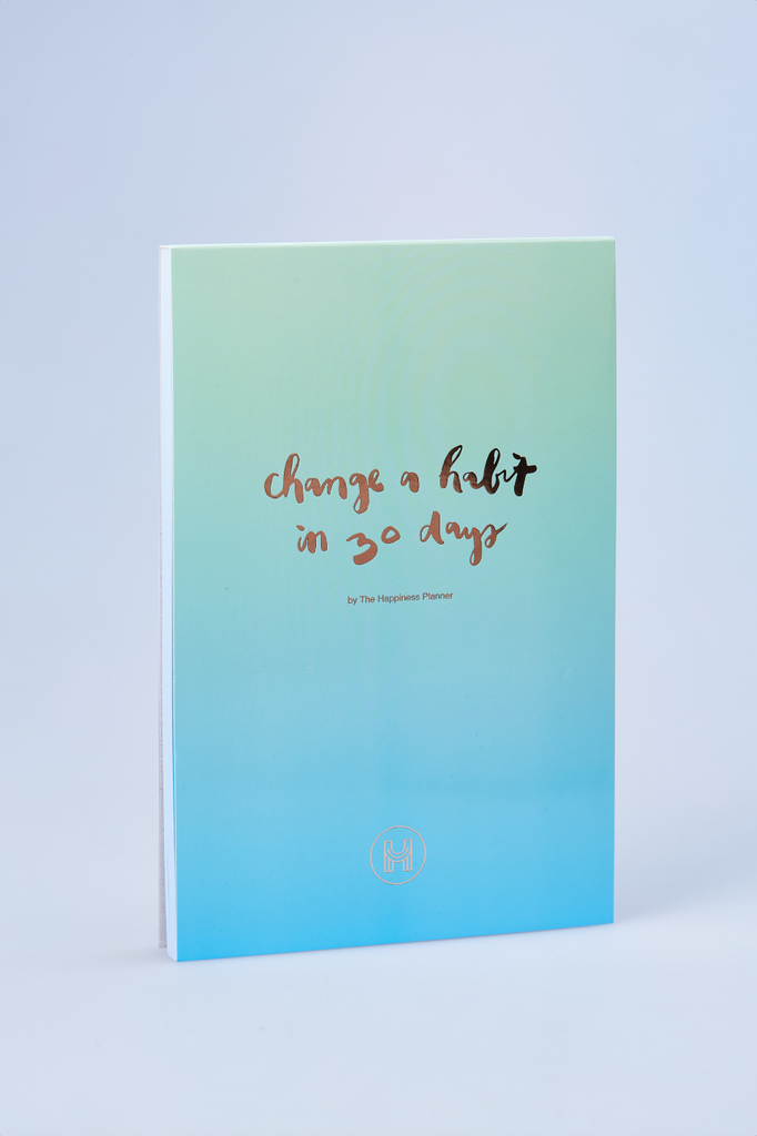 """Change a Habit in 30 Days"" Notepad"