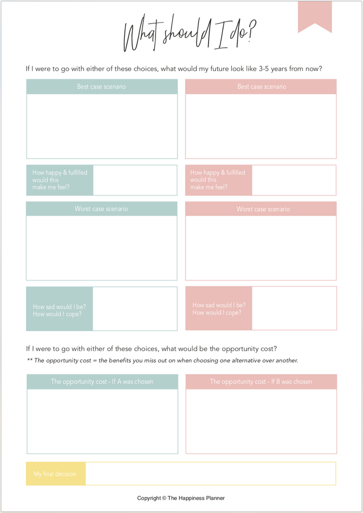 Printables: #DecisionMaking