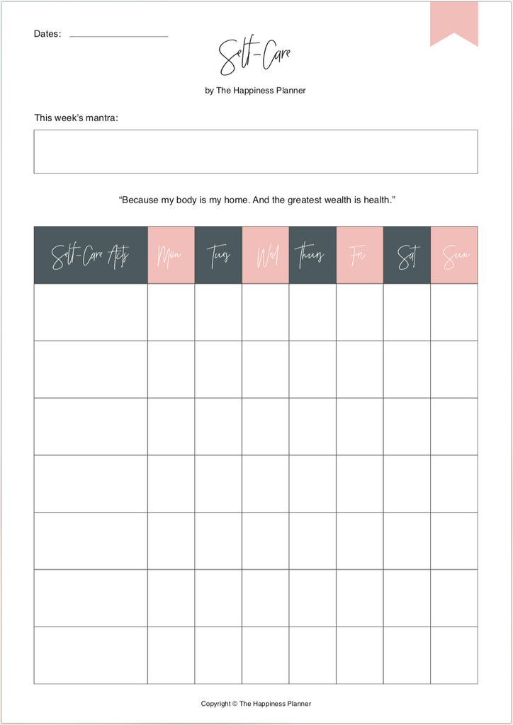 photo about Printable Self Care Plan identified as Printables: #SelfLove The Contentment Planner®(AU)