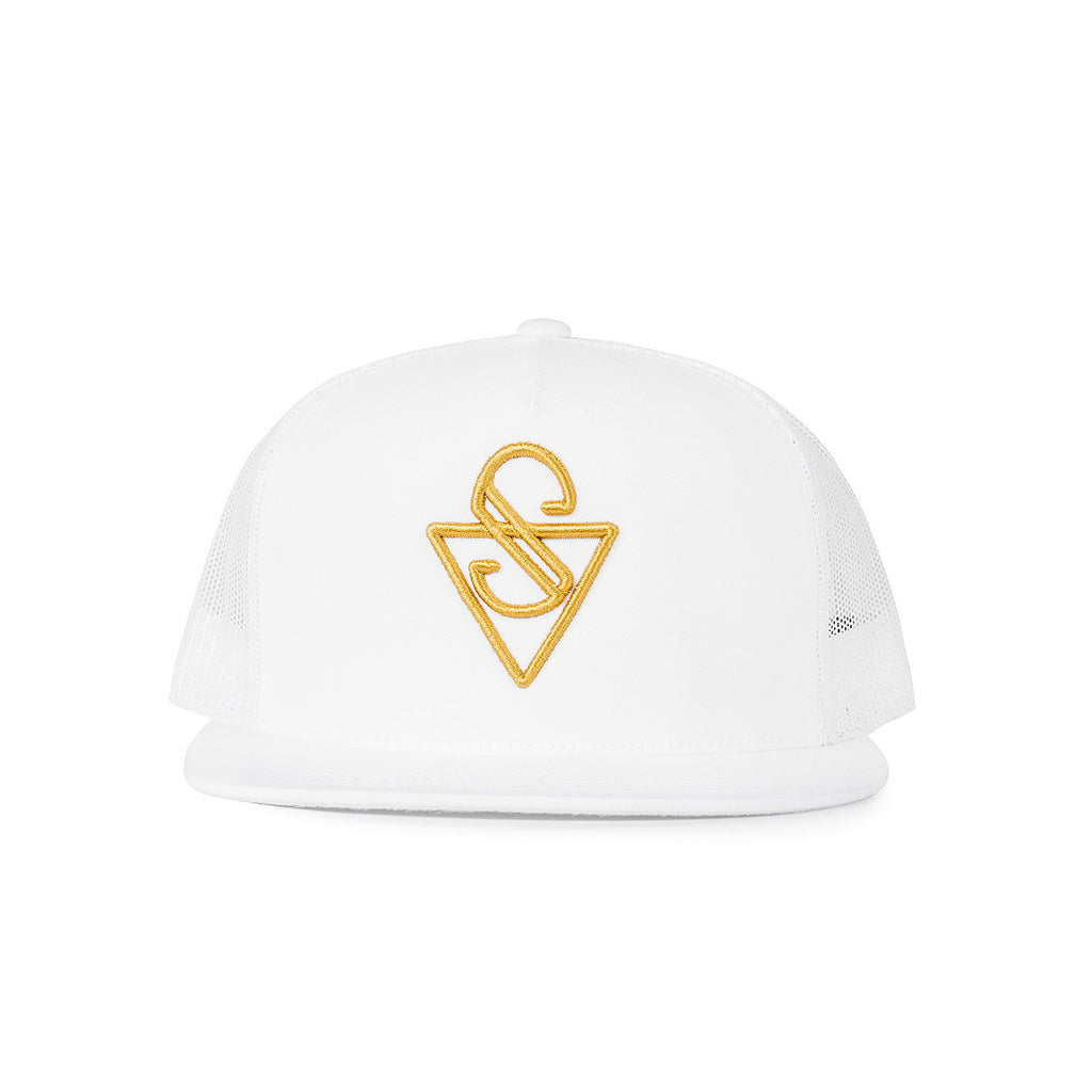 Sink Trucker Signature White Mesh with Gold Logo