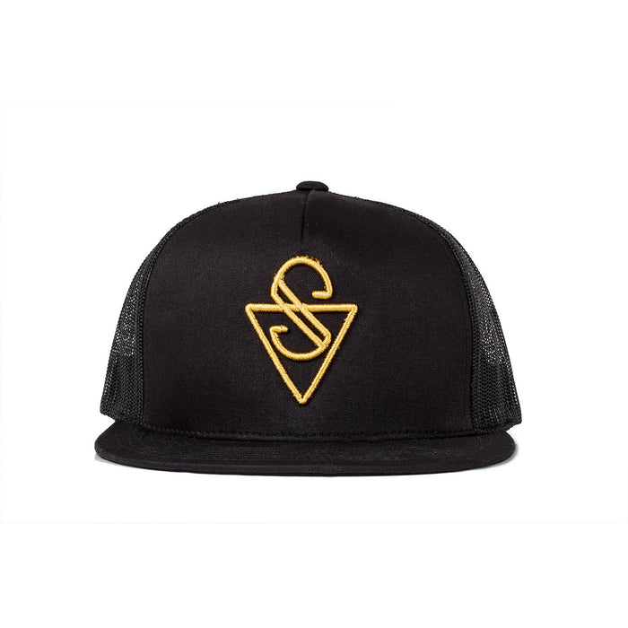 Sink Trucker Signature Black Mesh with Gold Logo
