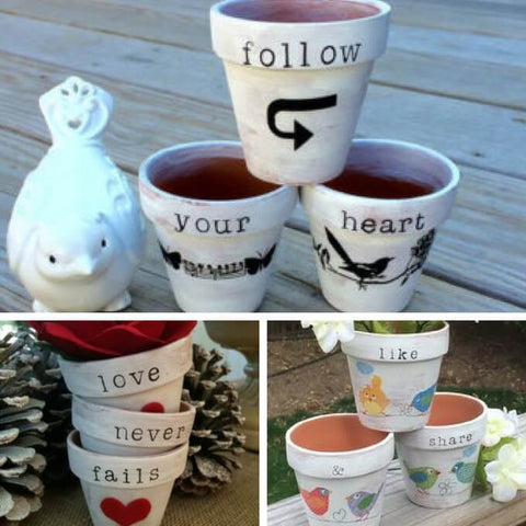 love message pot ideas