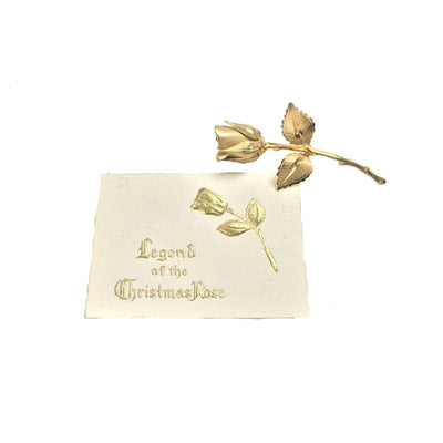 Christmas 1960s Giovanni Legend Of The Christmas Rose Signed Brooch - Christmas