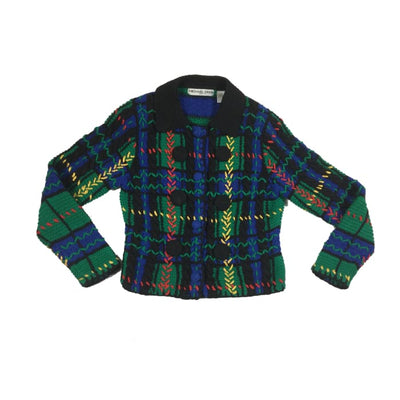 Christmas Classy Plaid Michael Simon Vintage Sweater Size S - Christmas
