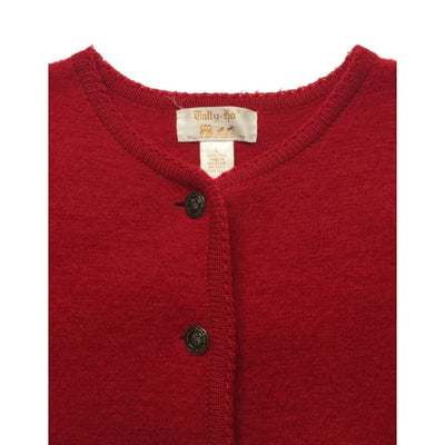 Christmas Classy Red Tally-Ho Vintage Sweater Size L - Christmas