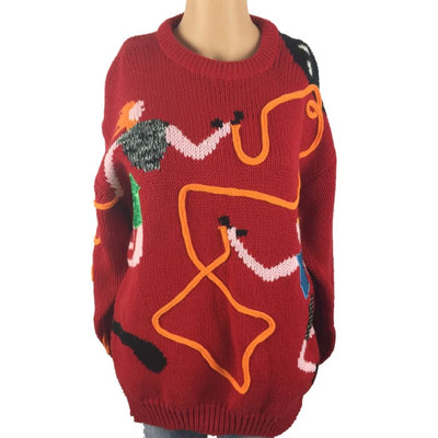 Christmas Double Dutch Bravo Vintage Sweater Size M - Christmas