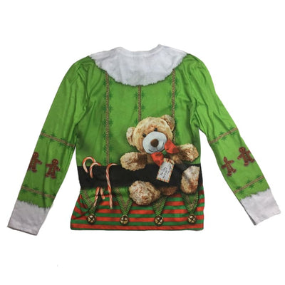Christmas Elf Faux Real Vintage Top Size M - Christmas