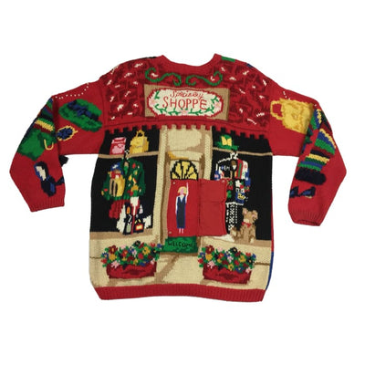 Christmas Fashion Show Vintage Sweater Size L - Christmas