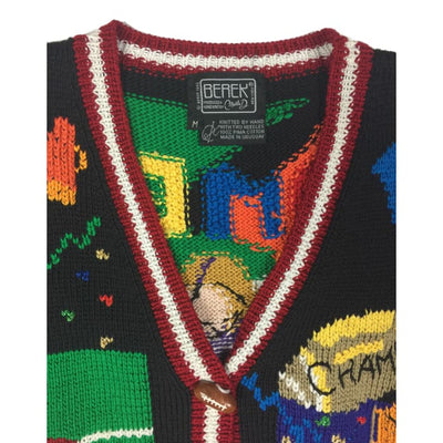 Christmas Football Berek Vintage Sweater Vest Size M - Christmas