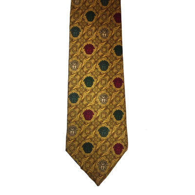Christmas Gianni Versace Faces Silk Tie - Christmas