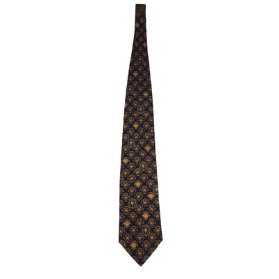Christmas Gianni Versace Golden Faces Silk Tie - Christmas