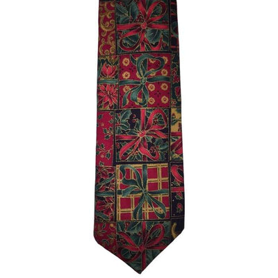Christmas Green And Red Presents Tie - Christmas
