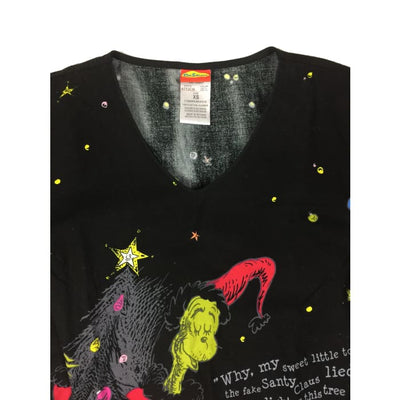 Christmas Grinch Dr. Seuss Vintage Top Size XS - Christmas
