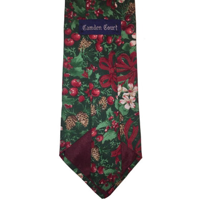 Christmas Holly And Bows Tie - Christmas