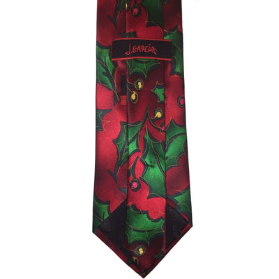 Christmas Holly Silk Tie - Christmas
