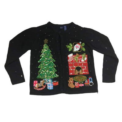 Christmas Night Basic Editions Vintage Sweater Size L - Christmas