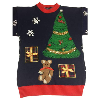 Christmas Night Vintage Sweater Size Unknown - Christmas