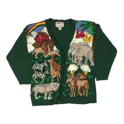 Christmas Noahs Ark Heirloom Collectibles Vintage Sweater Size M - Christmas