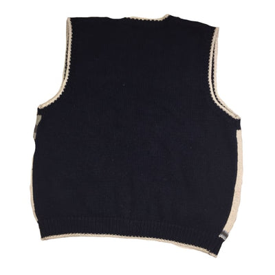 Christmas North Pole Depot Vintage Sweater Vest Size L - Christmas