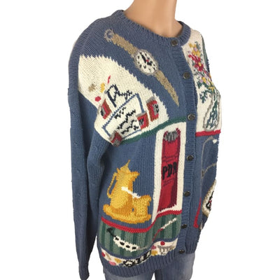 Christmas Nurse Signatures Vintage Sweater Size M - Christmas