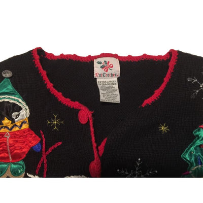 Christmas Penguin Christmas Vintage Cardigan Sweater Size XL - Christmas