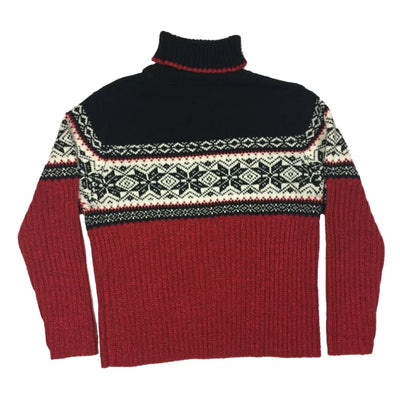 Christmas Red And Black Carolyn Taylor Vintage Sweater Size XL - Christmas