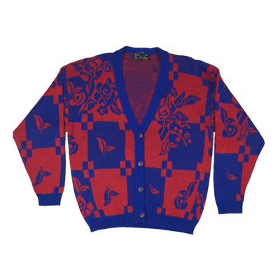 Christmas Red And Blue Pour Le Chic Vintage Sweater Size Unknown - Christmas