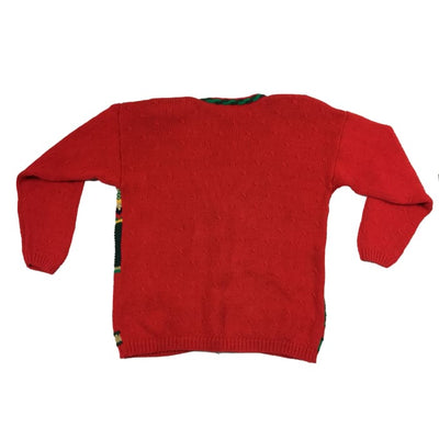 Christmas Red Bear Christmas Vintage Sweater Size M - Christmas