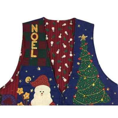 Christmas Santa Noel Vintage Sweater Vest Size Unknown - Christmas