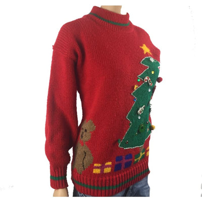 Christmas Star On Christmas Tree Share The Toy Vintage Sweater Size M - Christmas