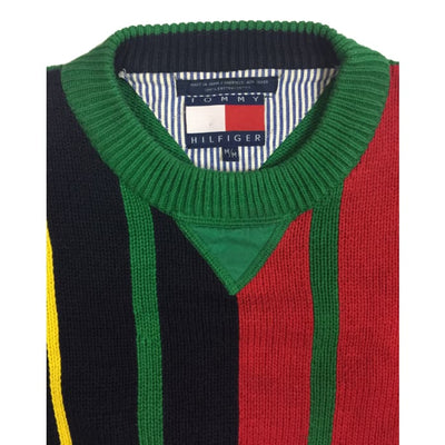 Christmas Stripes Tommy Hilfiger Vintage Sweater Size M - Christmas