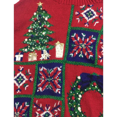 Christmas Tree Vintage Sweater Size Unknown - Christmas