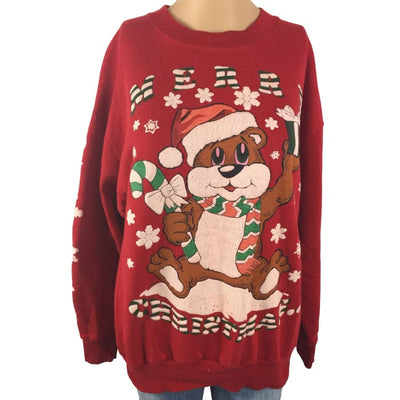 Christmas Two Holidays In One Americas Finest Single Vintage Sweater Size L - Christmas