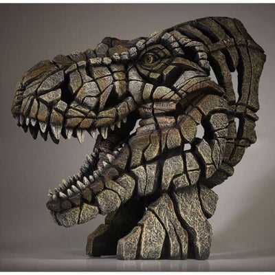 Dinosaur T-Rex Bust Edge Sculpture - Christmas